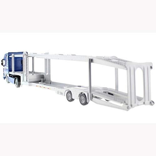 Aleación 1:50 Doble Cubierta Transportador de Coche Camión Diecast Modelo de Vehículo Juguete PingGongHuaKeJiYouXianGongSi (Color: Azul)