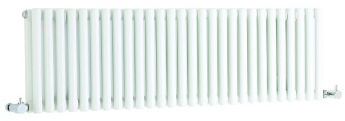 Hudson Reed Refresh Double White Designer Radiator | 1064 x 300 | HLW22