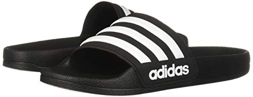 adidas Kids' Adilette Shower Slide, Black/White/Core Black, 6 M US Big Kid