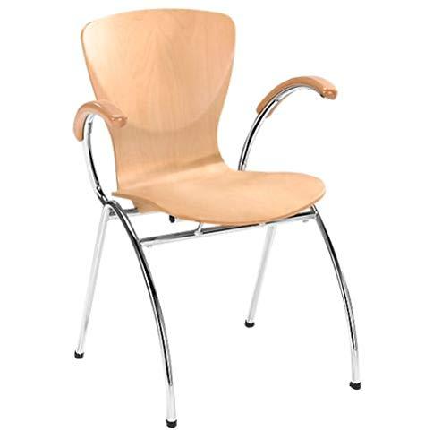 Nowy Styl Group Stuhl Bingo, mit Armlehnen, ohne Sitzkissen, stapelbar, Holzschale aus Buche