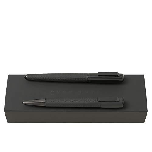 HUGO BOSS Pure Tire - Juego de bolígrafo y pluma estilográfica en estuche de regalo