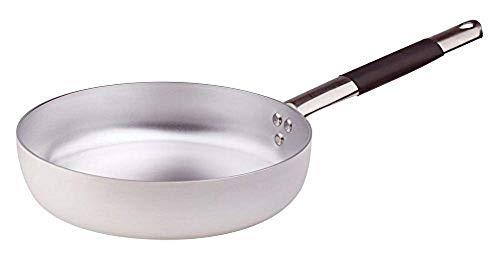 Pentool Agnelli pan rechte frituren met 1 handvat van aluminium met 3 mm