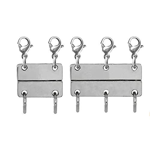 GASSDINER Práctico Broche magnético para joyería, Cierres y Cierres Extensores, convertidores magnéticos para la fabricación de Collares y Pulseras