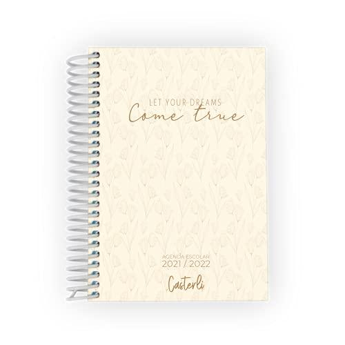 Casterli 84064- AGENDA ESCOLAR 2021-22 Colección RADIATE POSITIVITY. Día página, tamaño A6 (105 X 148 MM), Tapa Forrada con goma. Papel 75 gr.