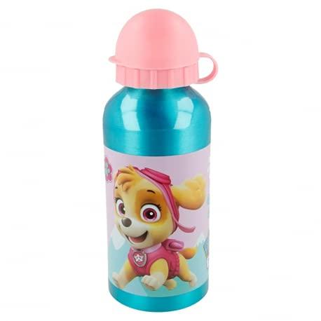Borraccia Bottiglia in Alluminio per Bambini 400ml con beccuccio retraibile (Paw Patrol Bimba)
