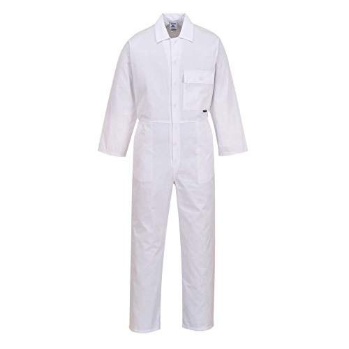 Portwest 2802 - boilersuit estándar, color Blanco, talla Medium