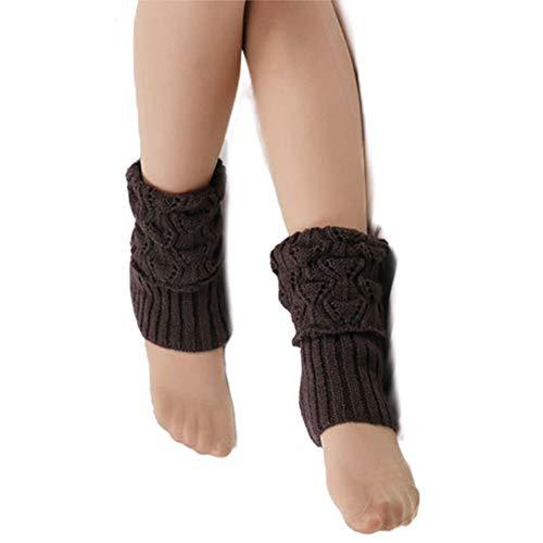 Aisoway 1 Paar Strickbeinlinge Short Stiefel Socken Häkeln Strick Stiefel Stulpen Beinwärmer Für Frauen Mädchen