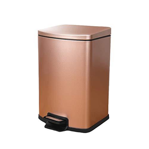 LEGU Bote de Basura Acero Inoxidable Bote de Basura, con la Tapa litros Pedal Cubo de Basura, 1.3/1.8/2.3/3.1 galones de Capacidad, for la Cocina, Oficina, hogar, Dormitorio Contenedor de residuos