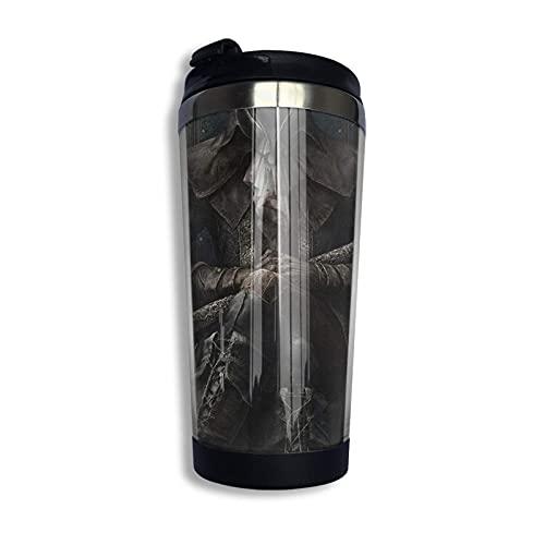 DJNGN Bloodborne Ps4 Game Designs Taza de viaje de café Taza de doble pared de acero inoxidable con aislamiento al vacío Tazas de vaso 13.5 oz