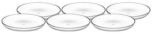 Leonardo Cucina Teller, 6-er Set, Durchmesser 18 cm, mikrowellengeeignet, Klarglas, 066330
