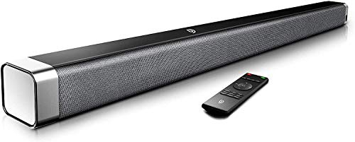 Soundbar, BOMAKER 37 Inch 2.0 TV Sound Bar with Built-in Subwoofer, 120dB, 3D Surround Sound, Wireless Bluetooth, 4 EQ Modes, Remote Control, Optical, RCA Cable Included