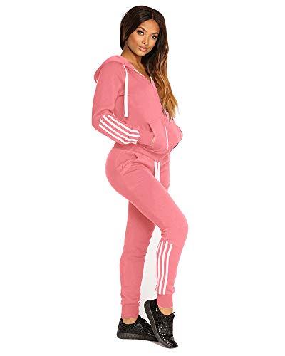 Godoboo Damen Trainingsanzug Damen Mode Streifen Trainingsanzug Frauen Lange Ärmel Zipper Top + Lange Hose Sportswear 2 Stück Set Sport Yoga Outfit