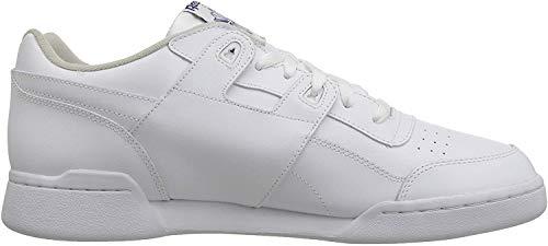 Reebok Unisex-Erwachsene Workout Plus Low-Top, Weiß (White/royal), 45 EU