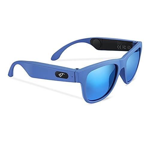 Vidrios de conducción ósea Conducción ósea Auriculares Bluetooth 5.0 Gafas táctiles inteligentes Gafas de sol deportivas al aire libre, para juego de juegos para juegos de viaje ( Color : Color2 )