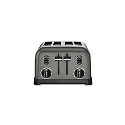 Cuisinart CPT-180BKS Metal Classic Toaster, 4-Slice, Black Stainless