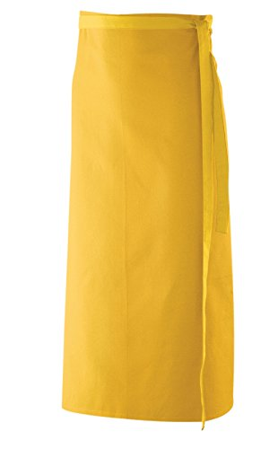 Bistroschürze, Schürze 80x100 cm in Gelb LxB aus 65% Baumwolle, 35% Polyester