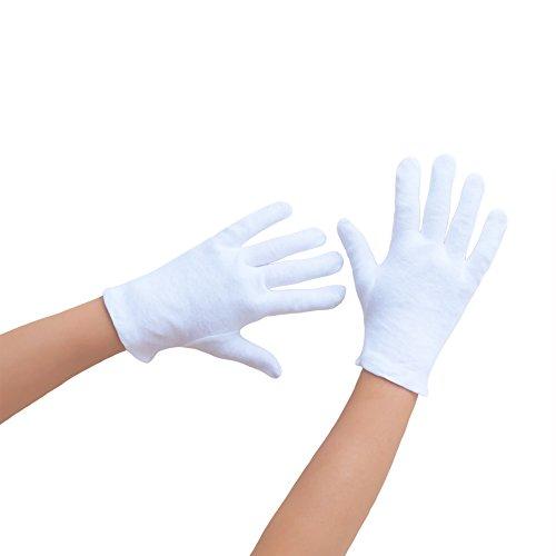 Oblique-Uniuqe® Kinder Baumwoll Handschuhe in weiß - auch für kleine Erwachsenenhände geeignet