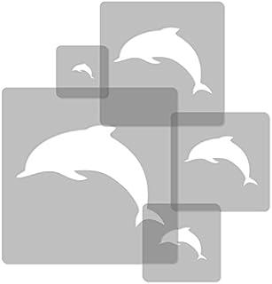 5 Pochoirs En Plastique Réutilisables // Dauphin // 34x34cm à 9x9cm //  Décoration
