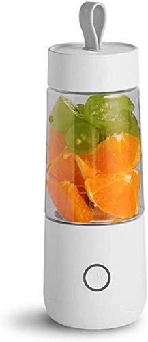 Portátil Juicer Mezclador Blender Blender Fruit 3D 4 Blade Un agitador 350 ml de la Fruta con un Cable de Cargador USB Puede Lograr un excelente Efecto agitador1 nyfcck (Color : 1)