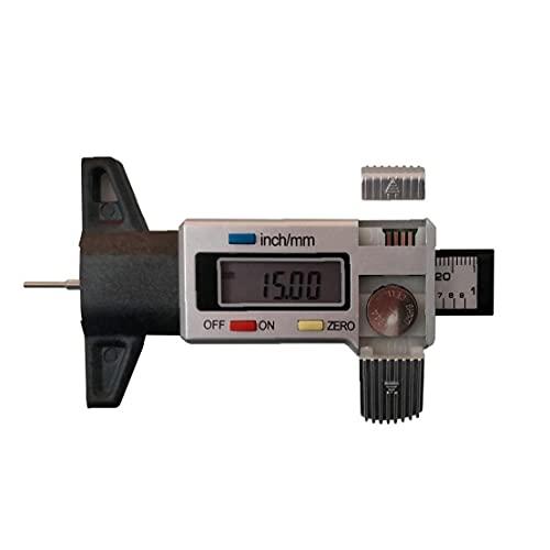 Tire Digital medidor de Profundidad de 4 mm 0-25 pisada del neumático probador Profundidad con Productos Herramienta de Medición Pantalla LCD Espesor del calibrador de Plata Industriales