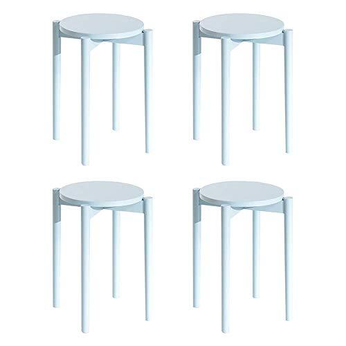 JiEER-C - Silla de ocio redonda, tablas de madera para el salón, duraderas y resistentes