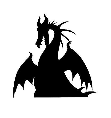 Sar54ryld Maleficent Drache Vinyl-Aufkleber Decor Drache Villian Drache Auto Aufkleber Halloween Aufkleber