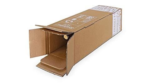 20x Flaschenversandkarton für eine Flasche/Weinflasche/Sektflasche - Weinkarton PTZ geprüft DHL/UPS Versandkarton für 0,75l