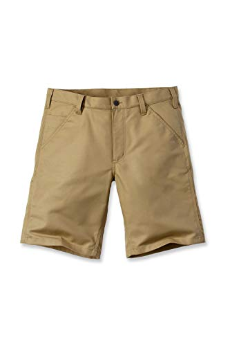 Carhartt Herren Rugged Professional Stretch Canvas Shorts, Dark Khaki, W36