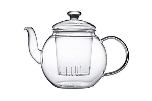 Teaposy récolte Théière avec filtre en verre et couvercle en verre 1,2 L verre Borosilicate...