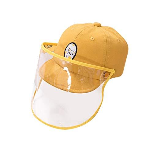 IMIKEYA Gorra de Niños Gorra de Béisbol Gorra de Protección Facial Gorra de Protección Desmontable para Exteriores Gorra de Protección Solar con Cubierta Transparente (5-15 Meses)