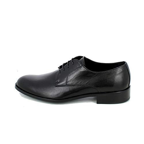 Super VARESE - Eleganter Schuh aus Leder, Schwarz, Schwarz - Schwarz - Größe: 41.5 EU