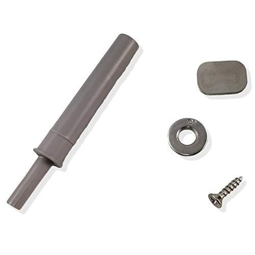 GRASS Tipmatic (Push to Open) para puertas sin mango de madera y marco de aluminio, así como para puertas de cristal y espejo, incluye contraplacas para atornillar y pegar (placa adaptadora)