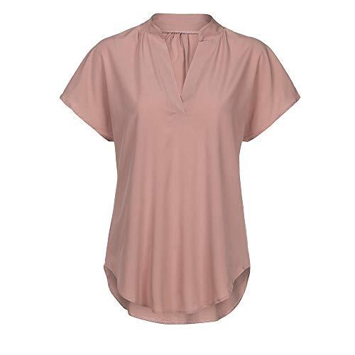 TOFOTL Damen blusen günstig rot fesliche für kurz ohne Kragen Kurzarm blusen Hemden große größen für den Abend schöne Damen tunikas böhmen dirndle Festliche