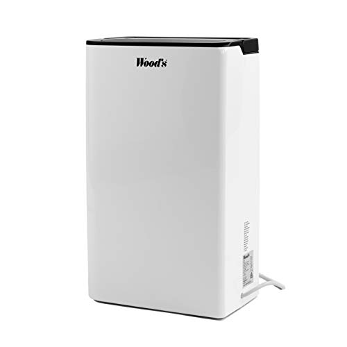WOOD'S 10L Super Compact Air Dehumidifier with Drainage Hose, Removes 10L/Day, Ideal for Removing Damp, Mould, Moisture in the Home