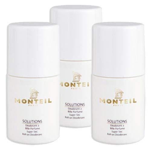 Monteil Solutions Super Sec Roll-On Deodorant 3x50 ml
