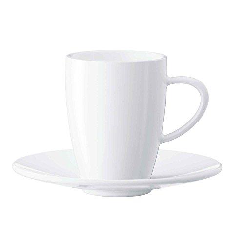 Jura 66499 2-er Set inklusive Unterteller weiß Kaffeetassen, Porzellan, 6.5 cm, 2-Einheiten
