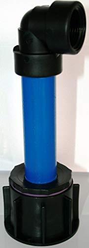 AME90R13_84 avec tube en plastique 100 mm dN32 aG 1, 90°, conteneur iBC accessoires-eAU tank-adaptateur-fitting-cANISTER