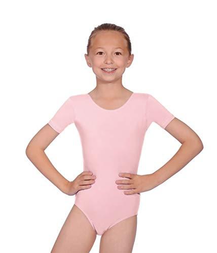 Maillot de ballet para niñas de la marca Roch Valley, tallas de 2 a 13 años, color rosa, tamaño 2-4 Años