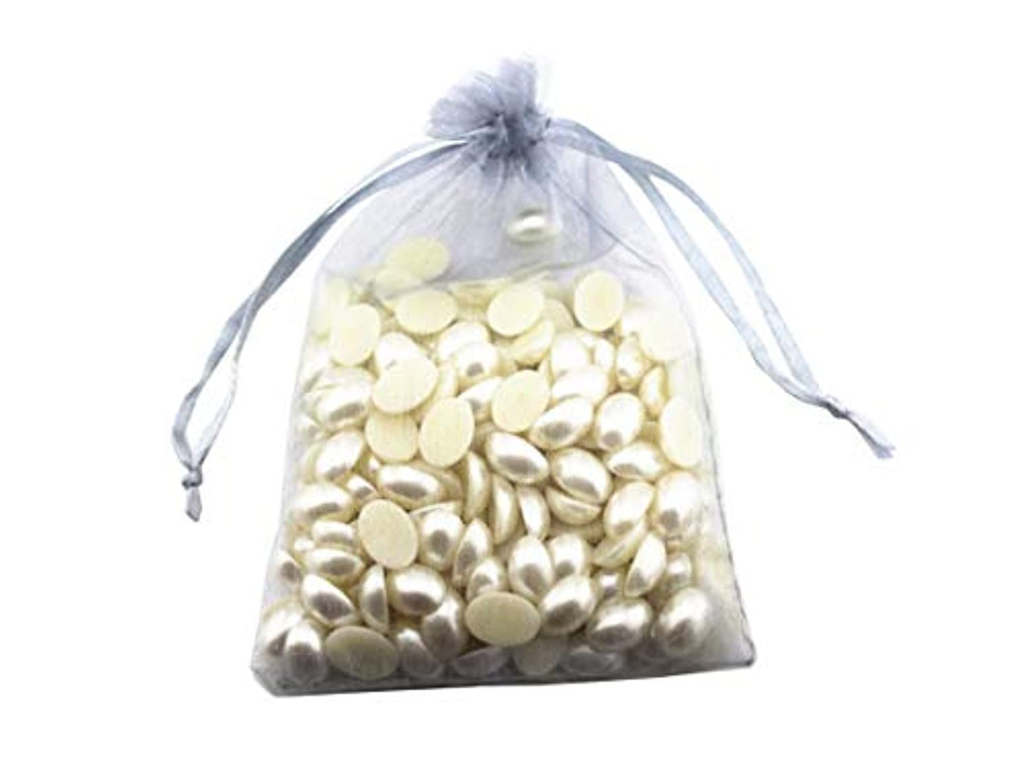 8 x 12 Inch 100 Drawstring Bags Gold Silver Fabric Jewelry Gift Pouch Candy Pouch Wedding Favors (Silver)
