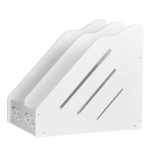 yotijar Portacartas Vertical Tipo Caja de Letras en PVC Blanco con 2 Secciones Automáticas