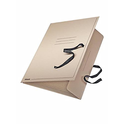 Leitz 6585 - Carpeta de cartón (A2, con cinta de cierre), color gris ✅