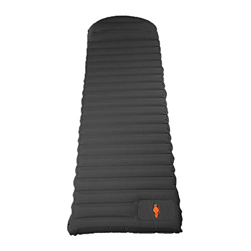 HKVML Cojín para Dormir autoinflable de TPU con Almohada Cojín de Aire para Senderismo Colchoneta para Acampar Espesar 10 cm Presione Colchoneta para Dormir a Prueba de Humedad, Negro