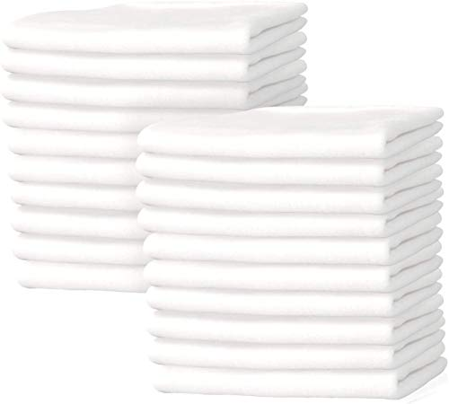New Premium White T-Shirt Knit Rags, 100% Cotton, Cloth Rags, Excellent For General Cleaning, Spills,Home,Staining,Polishing, Bar Mop And More By Nabob Wipers (1/2 Lb bag)