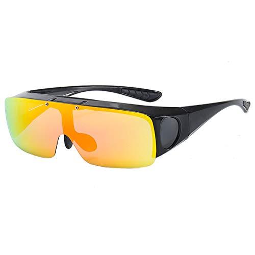 Agoky Unisex Polarisierte Fahren Sonnenbrille Herren Damen Nachtsichtbrille HD Nachtfahrbrille für Autofahren Anti Glanz Gewidmet Nachtbrille Rot OneSize