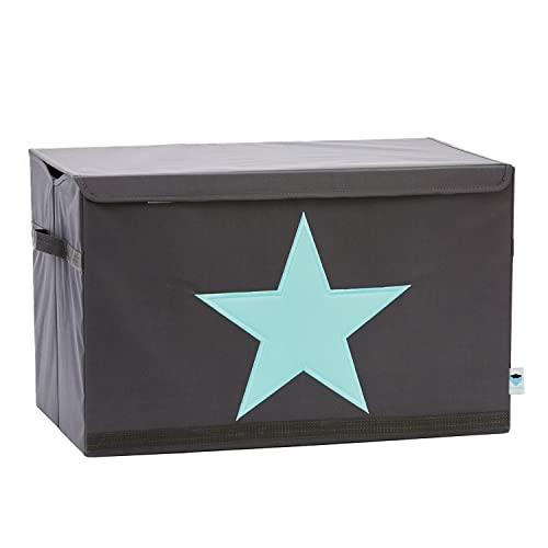 STORE IT - Baúl para juguetes para niños (62 x 37,5 x 39 cm), color gris y verde menta