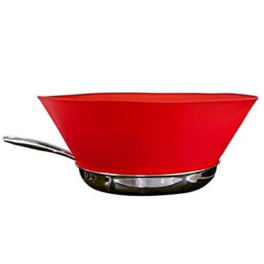 Frywall 12  (Large Pans) - Ultimate Splatter Protection without Compromises (Red)