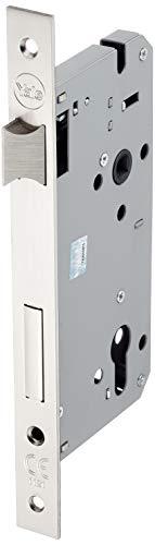 YALE Y52X00600S2 - Serratura da infilare porte in legno, Finitura nichelato satinato, Con frontale bordo quadro, Entrata 60mm, Interasse 85mm