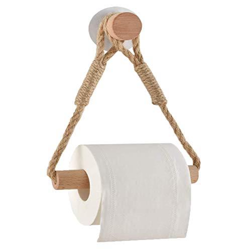 Hopeas Toilettenpapierhalter ohne Bohren Selbstklebend Klopapierrollenhalter Handtuchhalter WC Papier Halterung für WC Badezimmer Bad Nautisches Seil Antikes industrielles Wanddekorationszubehör