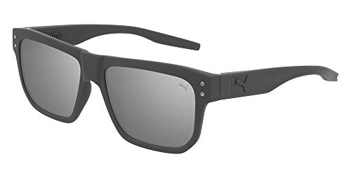 PUMA sonnenbrille PU0246S 004 grau silber größe 55 mm mann