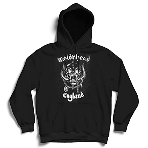 Motorhead England Sweat-Shirt àCapuche, Noir, XXL Homme